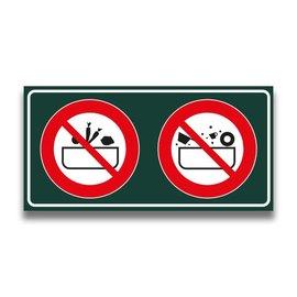 Toiletbord verboden groente + vaatwas