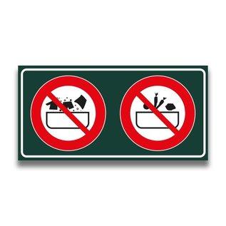 Toiletbord verboden kleding + groenten