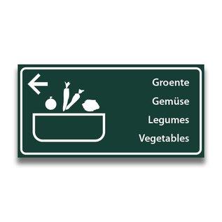 Toiletbord wasplaats groenten met pijl (L)