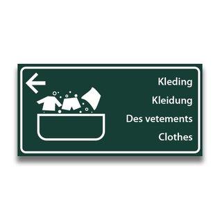 Toiletbord wasplaats kleding met pijl (L)