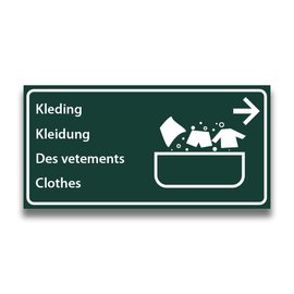 Toiletbord wasplaats kleding met pijl (R)