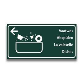 Toiletbord wasplaats vaatwas met pijl (L)