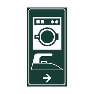 Toiletbord wasserette+strijken met pijl