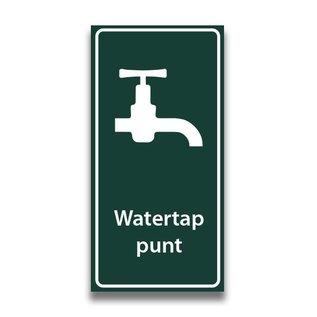 Toiletbord watertappunt met tekst