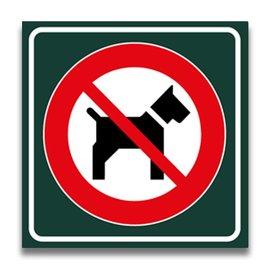 Toiletbord geen honden toegestaan