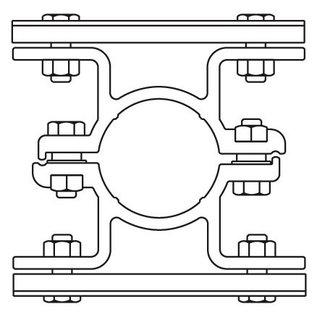 Bordbeugel ALUMINIUM dubbelzijdig (004)