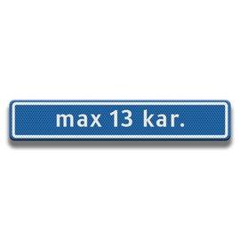 Straatnaambord 800 x 150 mm (13 karakters)