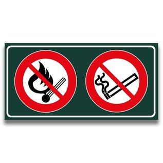 Verboden open vuur+roken