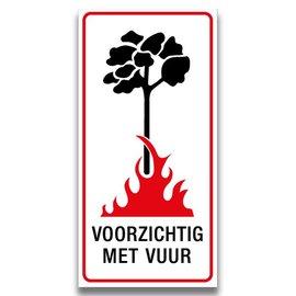Voorzichtig met vuur wit