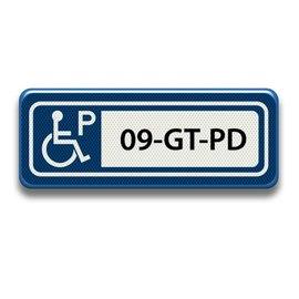 Parkeerplaatsbord Invalide P Eigen tekst