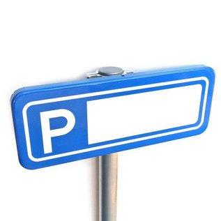 Parkeerplaatsbord Invalide P Eigen tekst 400 x 150 mm