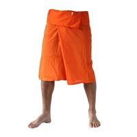 Fishermanspants 3/4 rayon oranje