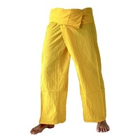 Fishermanspants katoen geel