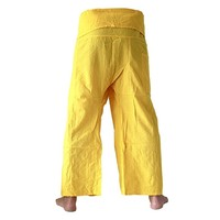 Fishermanspants Fishermanspants katoen geel