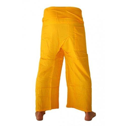 Fishermanspants rayon geel