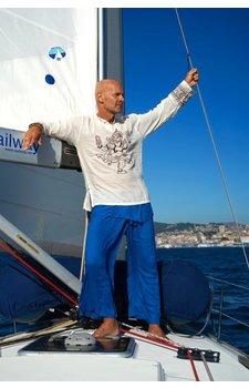 Fishermanspants rayon kobaltblauw