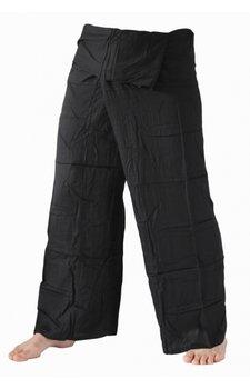 Fishermanspants rayon zwart