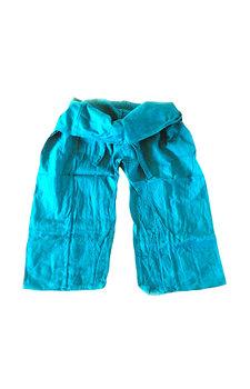 Fishermanspants turquoise blauw
