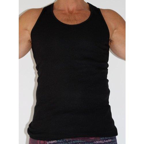 Fishermanspants Heren hemd (zwart)