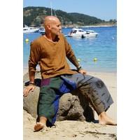 Fishermanspants Indian shirt (mokka)