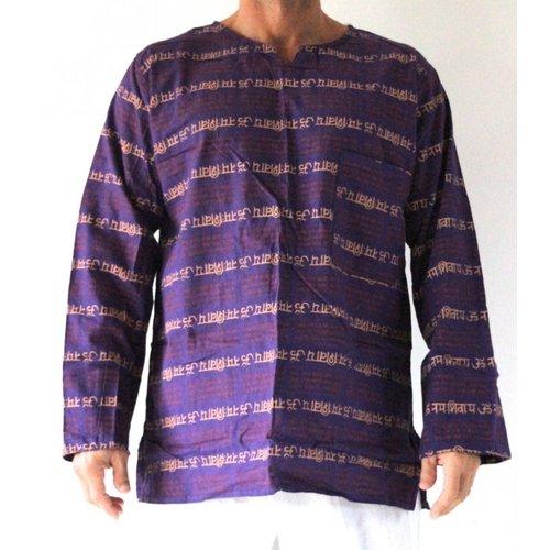 Shirt (paars-zalm-roest)