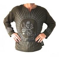 Shirt Ganesha legergroen