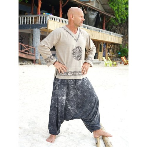 Fishermanspants Harembroek stonewash black Yapa