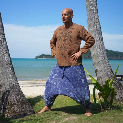 Fishermanspants Harembroek stonewash denimblue Yapa