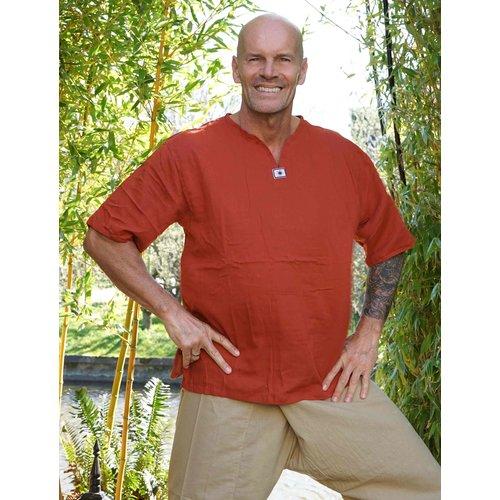 Fishermanspants Sunshine shirt korte mouw roest-oranje