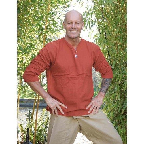 Fishermanspants Sunshine shirt lange mouw roest-oranje