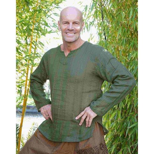 Fishermanspants Indian shirt legergroen