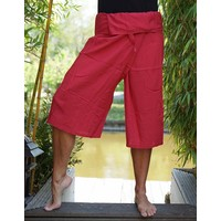 Fishermanspants 3/4 rayon donkerrood