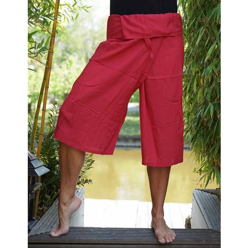 Fishermanspants Fishermanspants 3/4 rayon donkerrood