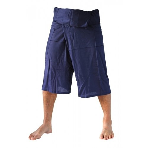 Fishermanspants Fishermanspants 3/4 rayon donkerblauw