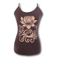 Fishermanspants Lotus yoga top bruin