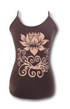 Lotus yoga top bruin