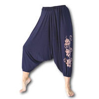 Lotus yoga harembroek donkerblauw