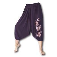 Lotus yoga harembroek aubergine