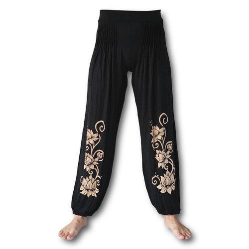 Fishermanspants Lotus yoga pofbroek zwart