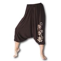 Fishermanspants Lotus yoga harembroek bruin