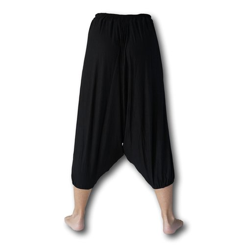 Fishermanspants Lotus yoga harembroek zwart