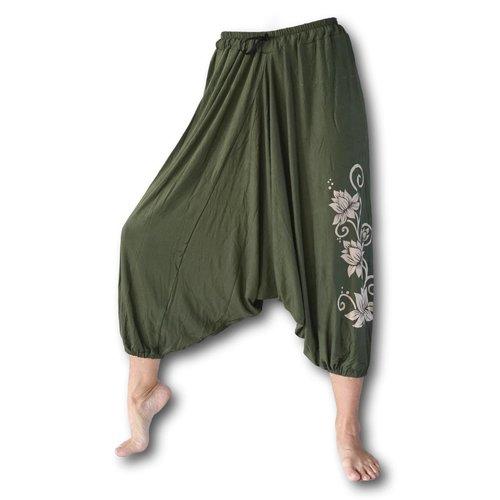 Fishermanspants Lotus yoga harembroek groen