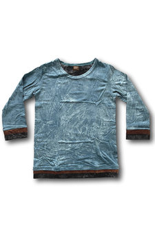 Stonewash shirt (XS) petrol