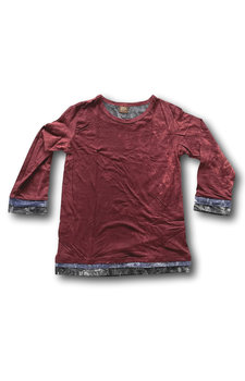 Stonewash shirt (XS) donkerrood