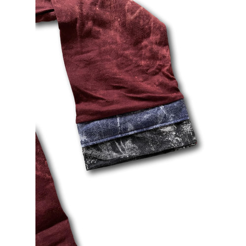 Fishermanspants Stonewash shirt (XS) donkerrood