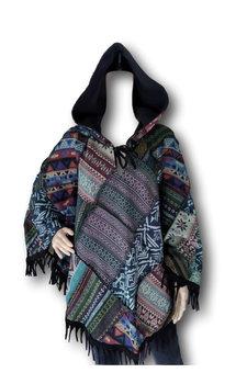 Hippie patchwork poncho