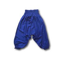 Fishermanspants Kinder harembroek blauw (7-9 jaar)