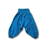 Fishermanspants Kinder harembroek turquoise (7-9 jaar)