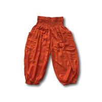 Fishermanspants Kinder pofbroekje oranje (5-6 jaar)