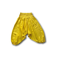 Fishermanspants Kinder harembroek geel (6-7 jaar)